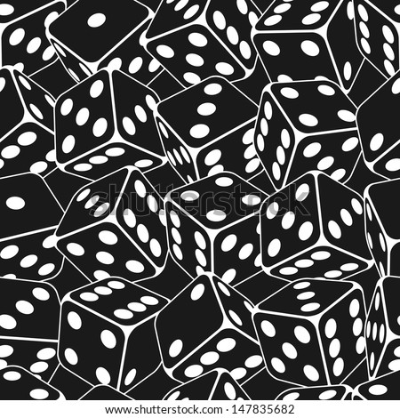 Dice seamless background pattern. Vector illustration. - stock vector