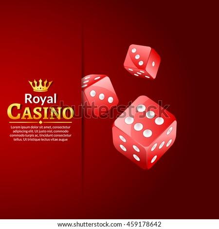 Dice vector casino design background. Dice gambling template concept. Casino background. - stock vector