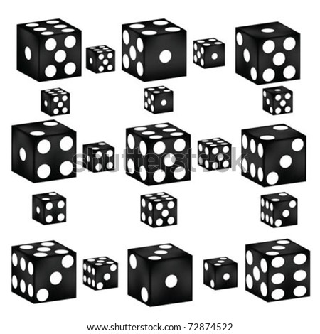 dices and dices - stock vector