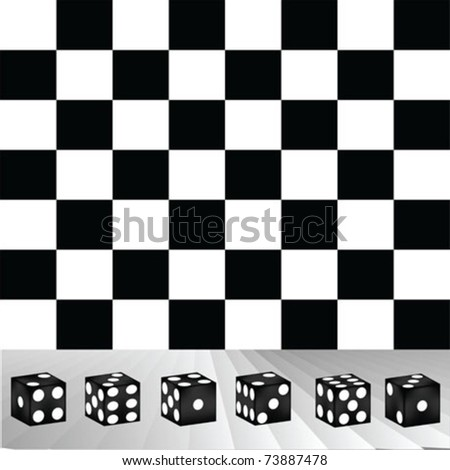 dices black - stock vector