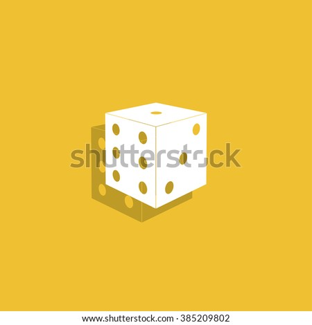 Dices sign icon. Casino game symbol. Flat design style eps 10 - stock vector