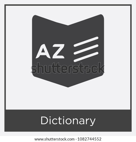 Dictionary Icon Isolated On White Background Stock Vector 1082744552 ...