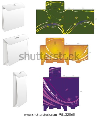 die box bag - stock vector