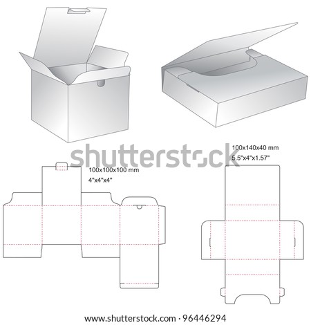 die box of tea - stock vector