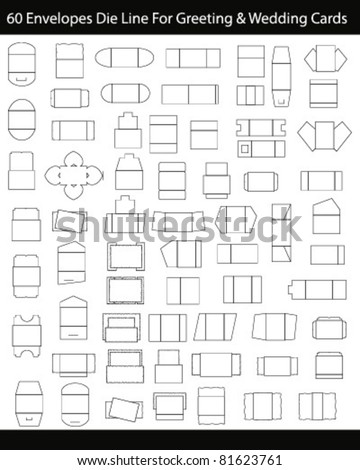Die Cut Envelope for greeting Card - stock vector