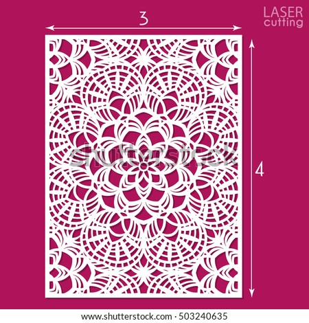 Die cut ornamental panel pattern template stock vector 503240635 die cut ornamental panel with pattern template for wedding invitation or greeting card may stopboris Images
