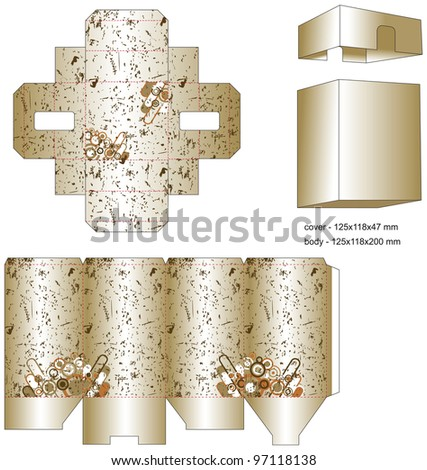 die gift box - stock vector