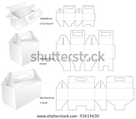 die set cake box - stock vector