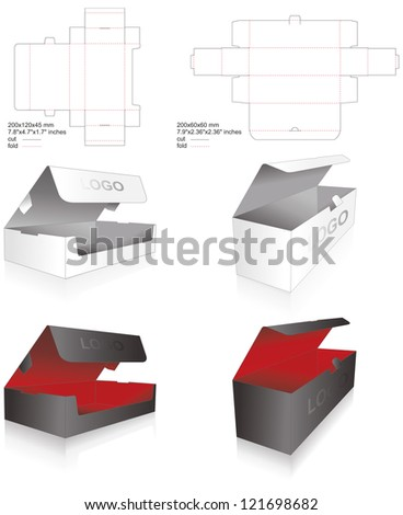 die set of luxury boxes - stock vector