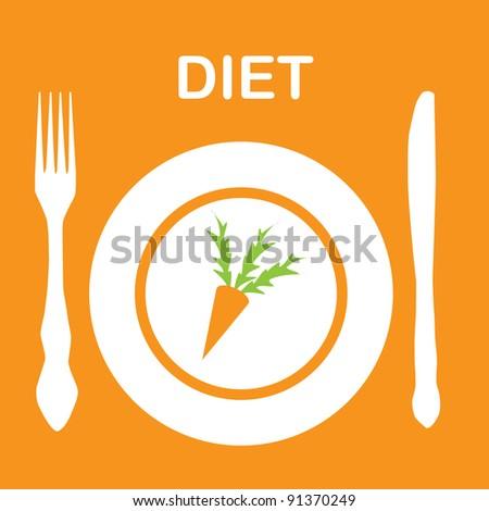 diet icon. vector illustration - stock vector