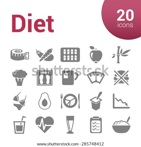 diet icons - stock vector