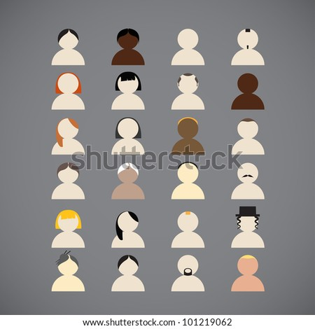Diferrent nations of people collection - stock vector