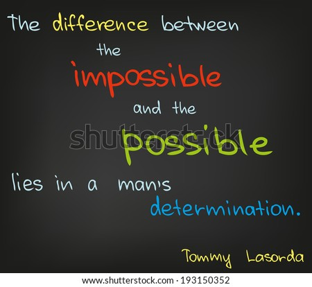 Difference between impossible and possible