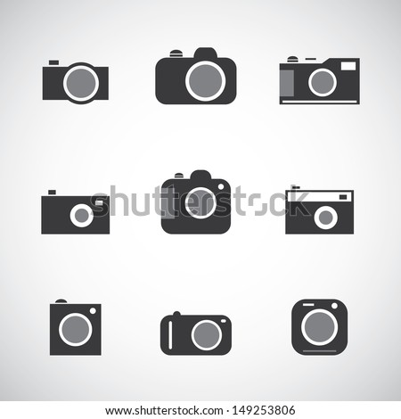 Different Camera Icons - stock vector