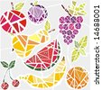 Different fruits - stock vector