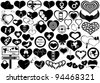 Different hearts isolated on white - stock vector