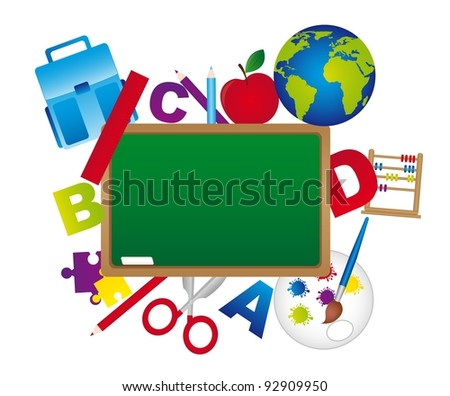 Different icons to return to school,  isolated over white background.vector illustrator