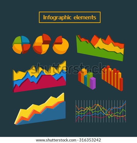 Different infographic elements collection. Vector clip-art