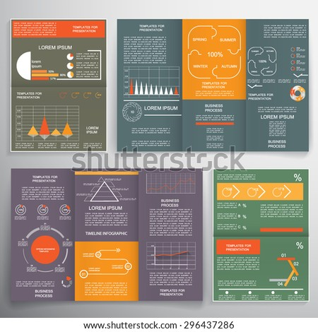 Different infographic elements for business brochures