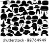 Different kinds of hats - stock vector