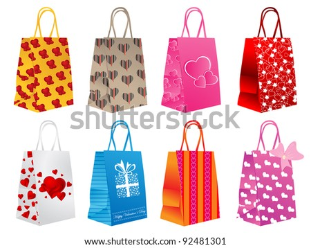 Different shopping bags - stock vector