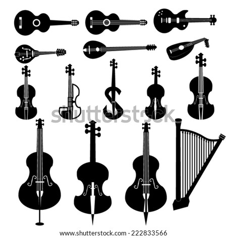 different string instruments