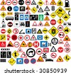Different type of road signage - stock