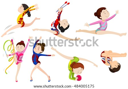 Boys Gymnastics Clipart