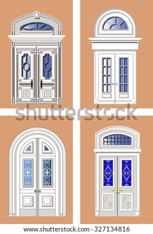 Different types doors stock photos royalty free images for Different types of interior doors