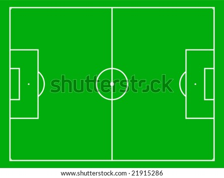 Different types of sport fields - stock vector