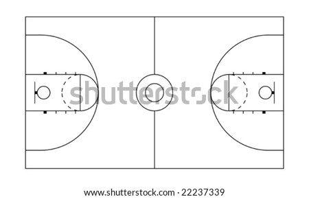 Different types of sport fields and grounds - stock vector