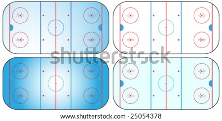 Different types of sport fields and grounds. - stock vector