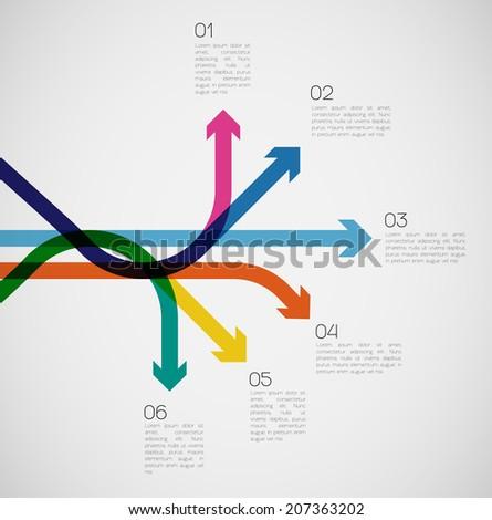 Different Way Infographics | EPS10 Vector - stock vector