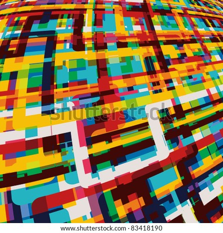 Digital abstract background. - stock vector