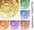 Digital Abstract Background Set - stock vector