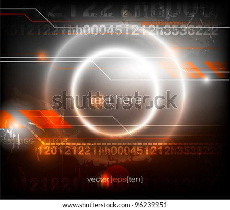 Digital abstract background. Vector eps10. - stock vector