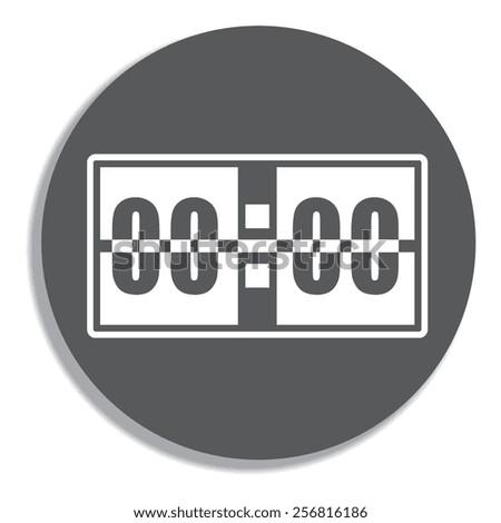Digital alarm clock vector icon. on a grey background - stock vector