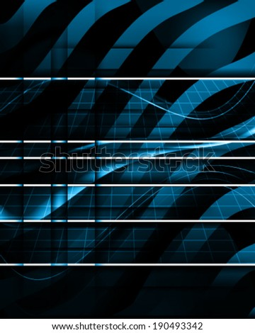 digital bars - stock vector