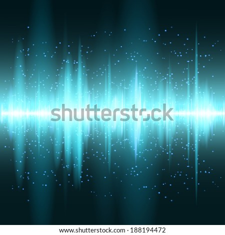 Digital blue light Equalizer background. Vector illustration - stock vector