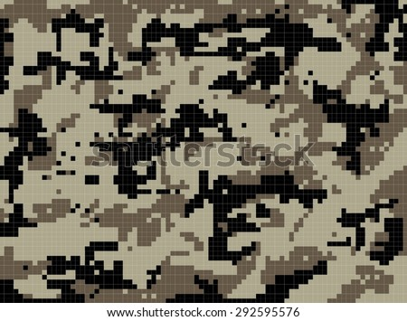 digital camouflage - stock vector