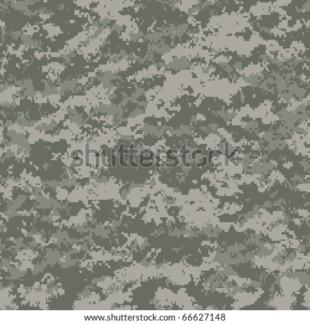 digital camouflage seamless patterns (universal palette) - stock vector