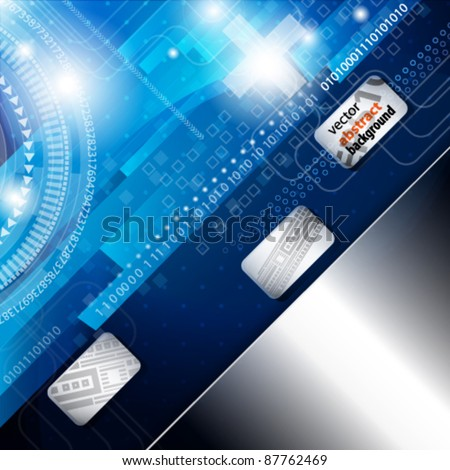 Digital Card with Abstract Background