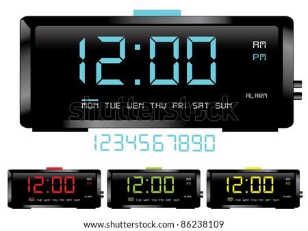 Digital clocks vector - stock vector