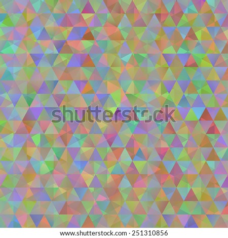 Digital colorful pattern with messy triangles grid