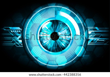 digital data background, blue silver abstract light hi tech pixel internet technology, Cyber security concept, Cyber data digital computer. eye scan virus. motion move speed. vector