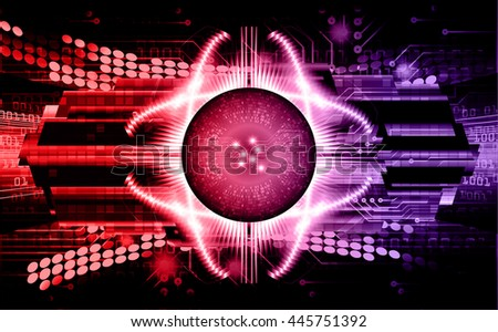 digital data background, purple red abstract light hi tech pixel internet technology, Cyber security concept, Cyber data digital computer. eye scan virus. motion move speed. vector - stock vector