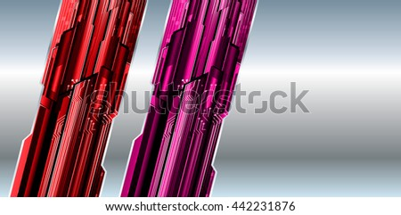 digital data background, red pink silver abstract light hi tech pixel internet technology, Cyber security concept, Cyber data digital computer. text box, banner, label - stock vector