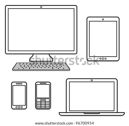 Digital devices - stock vector