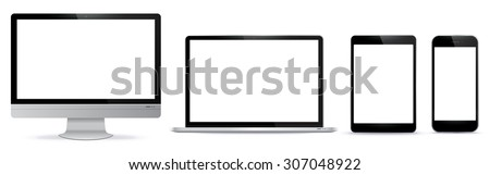 Digital Devices Vector Illustration. - stock vector
