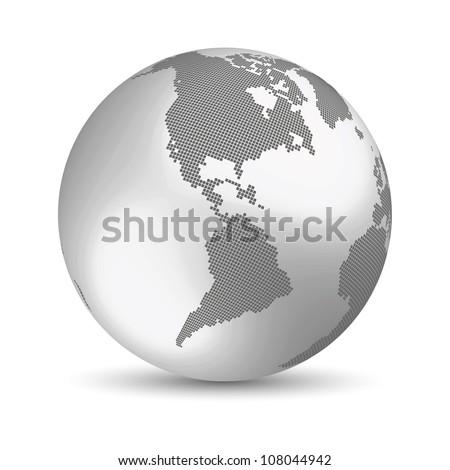 Digital Earth concept - stock vector